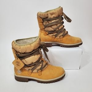 Timberland Laced up Leather Warm Waterproof Boots